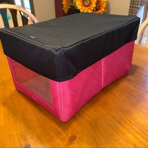 Hot Pink & Black Your Way Rectangular Bin